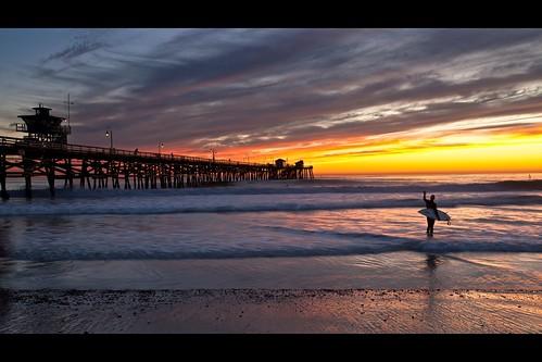 ocean california sunset sky people cloud seascape color beach canon landscape pier twilight surfer wave atmosphere orangecounty sanclemente tone ef1635mmf28liiusm eos5dmarkii