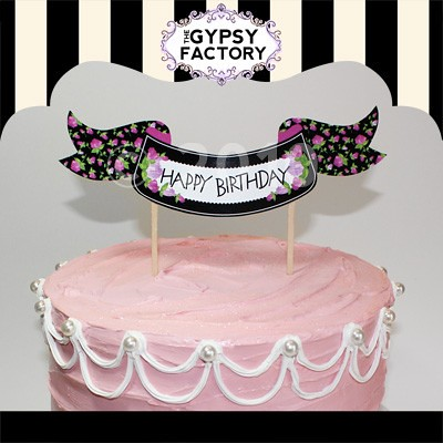 photo regarding Happy Birthday Cake Topper Printable identify Printable \