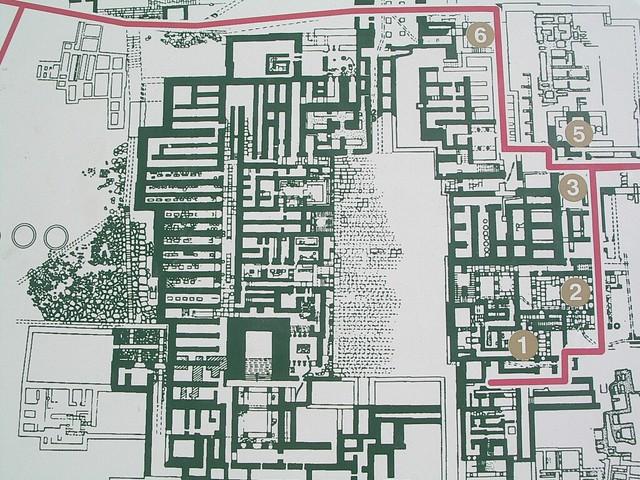 Palacio de Cnossos, plano