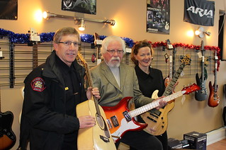 2011 Music Works Program: Calgary Police Chief Rick Hanson, Darryl Wernham (CEO of Legacy Children's Foundation) and Minister Redford | by Government of Alberta