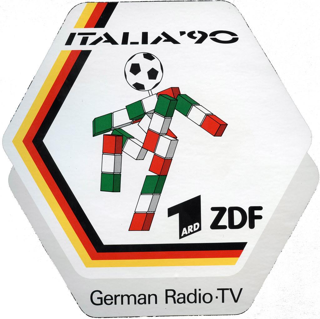 Fernsehen Logo Fussball Wm 1990 Rom Ard Zdf German Radio T