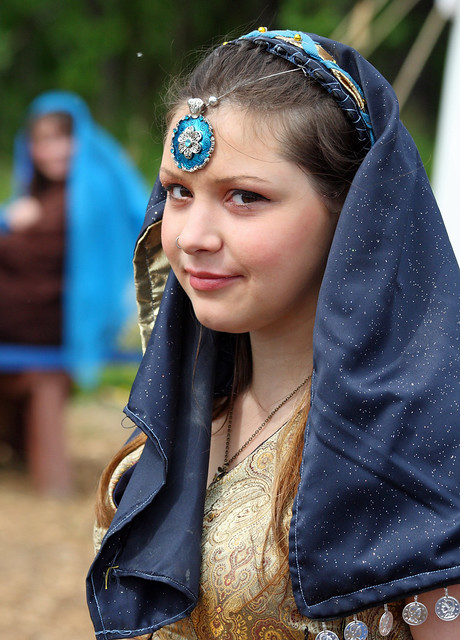 Young maiden in the Blue Baron's court