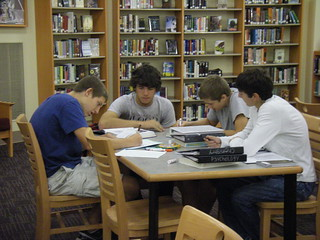 working hard durilng study hall | by PHSlibrary