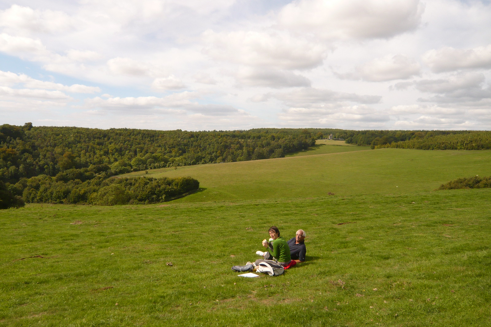 Picnic Lunch in Arundel With another Tower in the distance