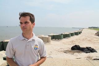 Refuge manager Jereme Phillips at Bon Secour during the 2010 oil spill