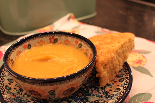 Pumpkin Soup and Cornbread | by thegardenbuzz