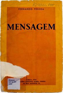 Front cover of Fernando Pessoa's 'Mensagem'. Hispanic VP 36.M3 1934.