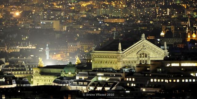 Montmartre connexion night #01 (vue de la butte - Madeleine)