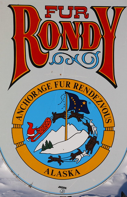 The classic Fur Rondy sign