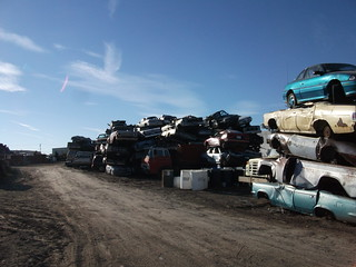 Cars awaiting shredding | by dave_7