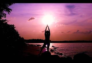 yoga sunset | by StevenSimWorld