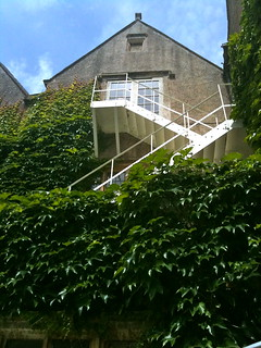 Fire escape a the rear of Bibury Court Hotel | by Tip Tours
