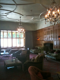 Portrait view of the waiting room in Bibury Court Hotel | by Tip Tours