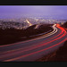 © All rights reserved. A low-res, flatbed scan of a 6x7 (2 1/4 x 2 3/4 inch) transparency.  I just have one thing to say: Don't trust that guard rail!  Well, I guess I have a little more to say. This image is from a recent shoot up on Twin Peaks in San Francisco. This is another composition that really improved with finally getting a true wide-angle lens. If you look in the distance toward downtown, you can see the city hall in Giants orange. It's fun places like this that make being a lightrailist (a what? haha) really rewarding. Thanks for having a look and leaving a comment!