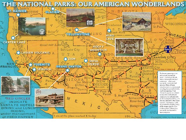 National Parks and Postcard Advertisements