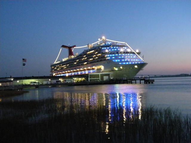 Carnival Glory Docked in Charleston, South Carolina