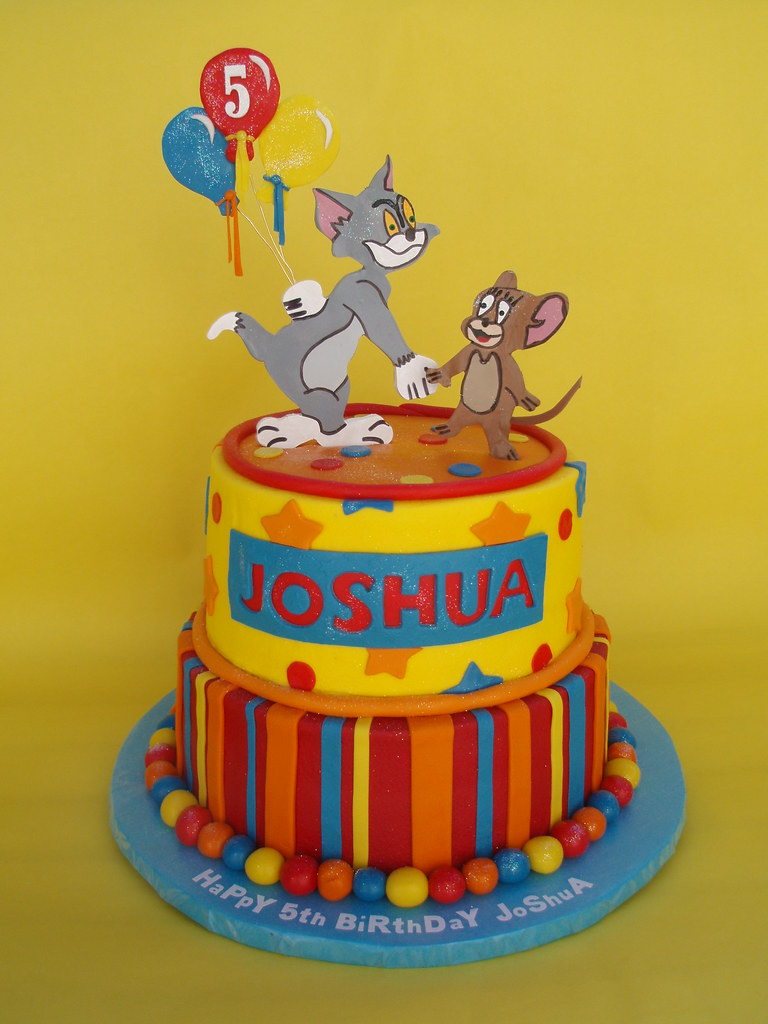 Amazing Tom And Jerry 5Th Birthday Cake The Famous Cat And Mouse D Flickr Funny Birthday Cards Online Bapapcheapnameinfo