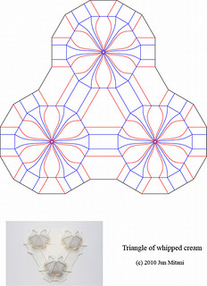Crease Pattern of the Triangle of whipped cream | by Jun Mitani