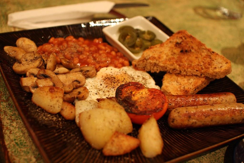 vegetarian english breakfast | even the sausage | arvind grover ...