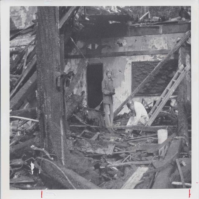 SDASM Fire_Brian Flintrop, Bob Connery recover items