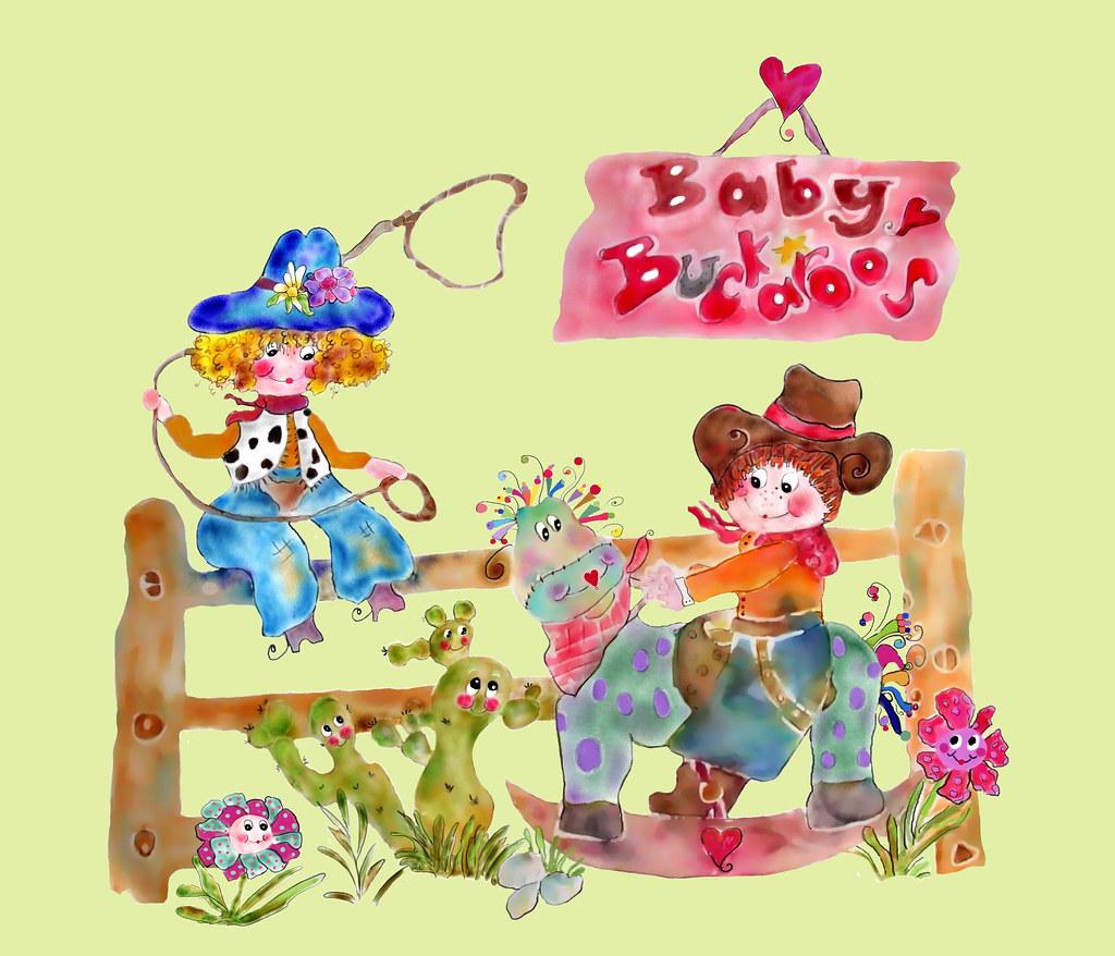 Baby Buckaroos  Riding the Range by Rosanna Hope for Babybonbons