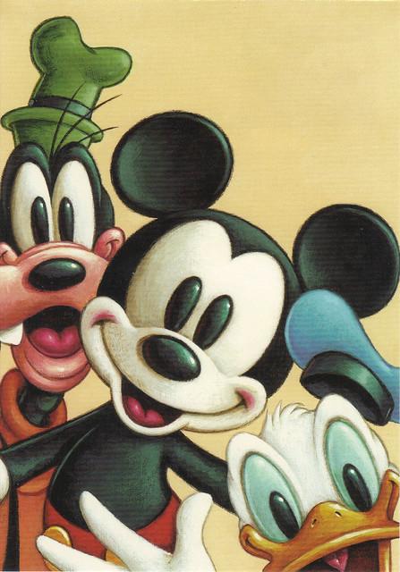 USPS The Art Of Disney Friendship Mickey & Friends Postcard