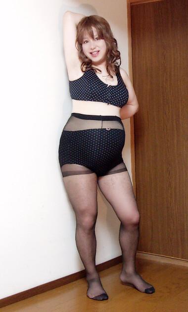 Black maternity pantyhose over Black panty #2(Refurbished