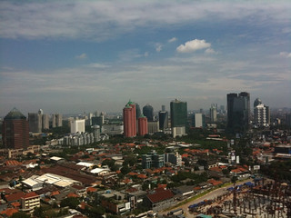 Jakarta from 29th floor   by femi adi