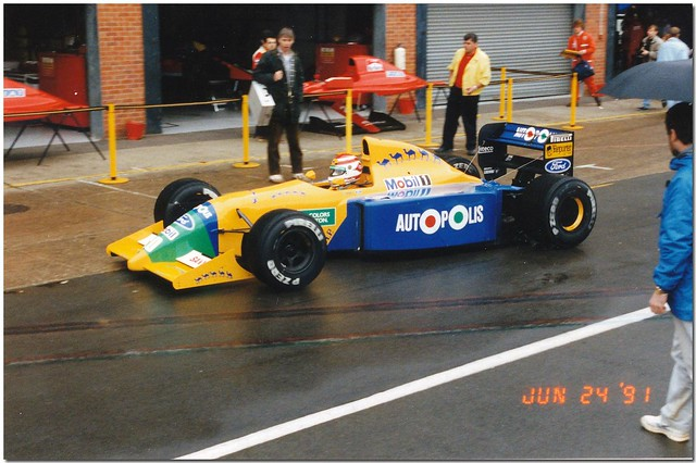 Nelson Piquet Benetton Ford B190B F1. 1991 British GP Test Silverstone
