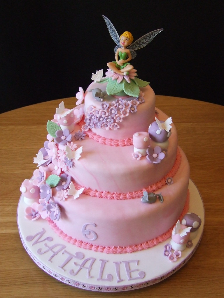 Super Tinkerbell Birthday Cake 2 This Was My Second Tinkerbell Flickr Funny Birthday Cards Online Alyptdamsfinfo
