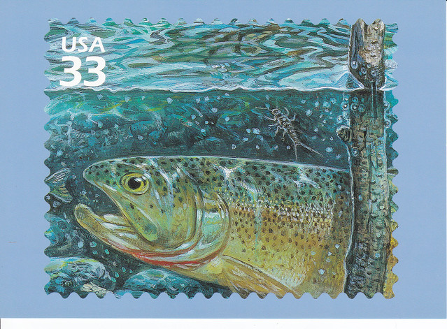 USPS Pacific Coast Rain Forest Cutthroat Trout Postcard