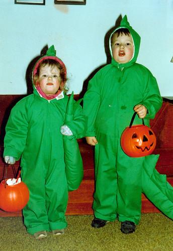 Joey and Katie Stegosaurus