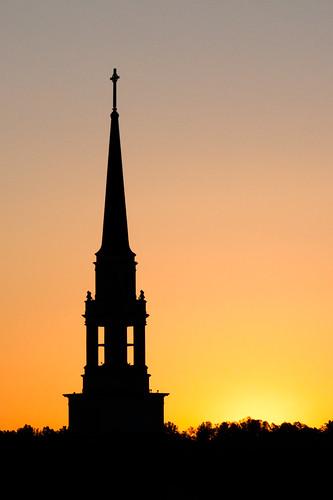 sunset steeple milligancollege seegerchapel milliganphotocontest2011