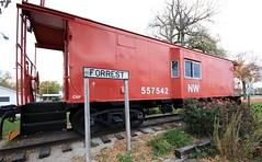 Norfolk Western Caboose at Forrest, Illinois