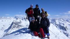 Skupinové foto na vrcholu Isentällispitze ve výšce 2.986 m