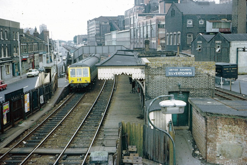 Silvertown station in 1971