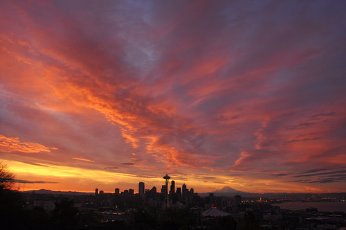 seattle skyline sunrise washington amazing nikon cityscape kerrypark veteransday d5000