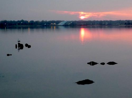 water sunrise michigan muskegon muskegonlake