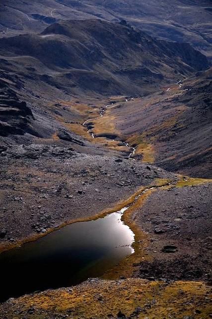 Laguna de Aguas Verdes, Sierra Nevada, España