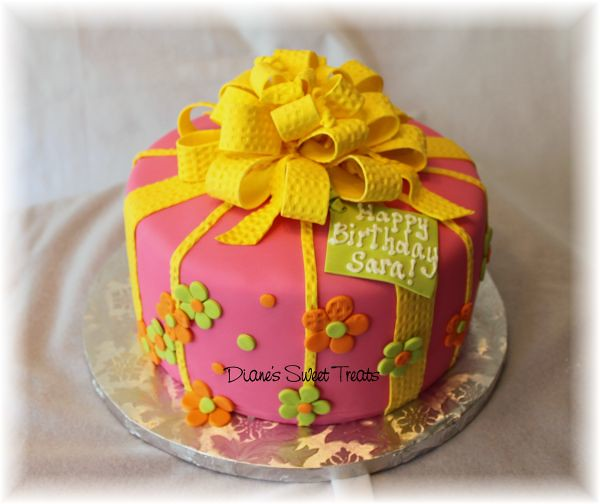 Marvelous Pink And Yellow 18Th Birthday Cake My Customer Requested A Flickr Funny Birthday Cards Online Ioscodamsfinfo