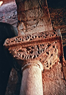 San Pedro de la Nave - Carved Stone Capital - Sacrifice of Isaac