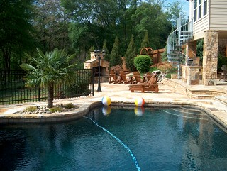 swimming-pool-brown-crab-orchard-flagstone | by ARNOLD Masonry and Landscape