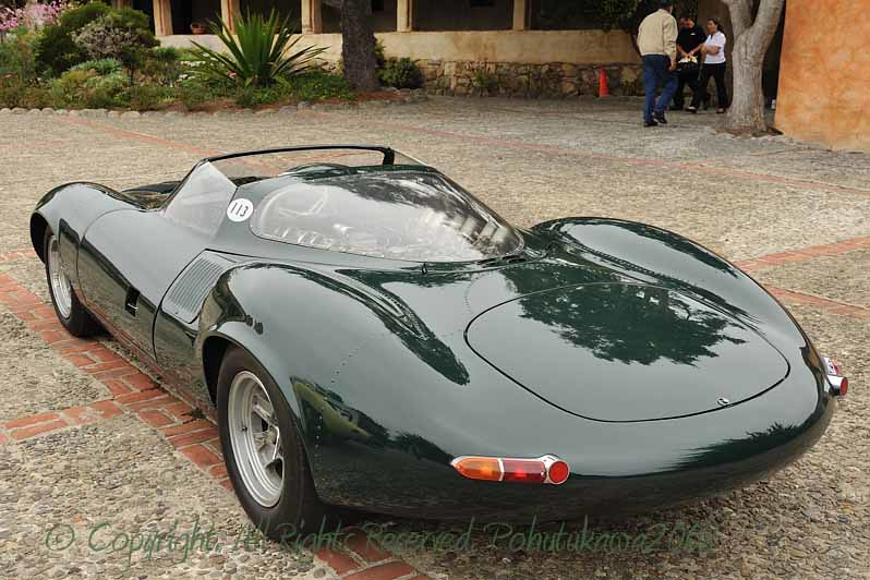 Pussycats Gather at Mission Carmel: Jaguar XJ 13 Replica