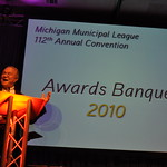 Michigan Municipal League President Jeff Jenks at 2010 Awards Banquet