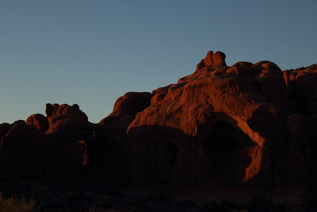 Sunset at Double Arch - Arches National Park, Utah
