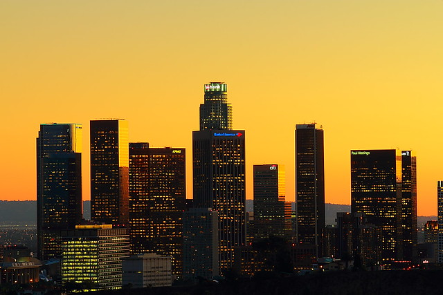 Downtown L.A. before sunset