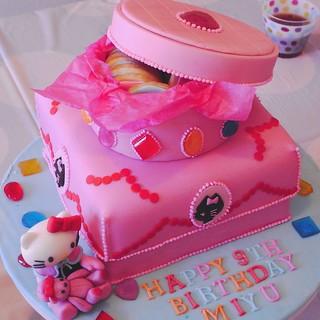 Enjoyable Hello Kitty Jewel Box Birthday Cake Exif Jpeg Picture Bittle Funny Birthday Cards Online Unhofree Goldxyz