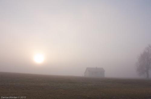 light house fog rural sunrise canon golden countryside nc northcarolina denise goldenhour worden 450d deniseworden