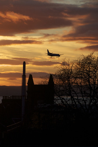 november sunset tree plane canon buildings scotland dundee dusk outline 30d