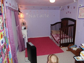 Natalie's room with her toddler bed. | by mlarsens